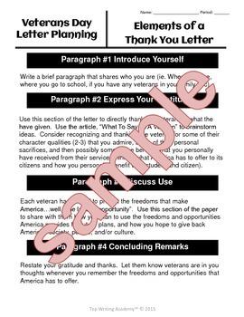 "Veterans Day Activities ""Operation Gratitude"" Letter Writing (No Prep!)"