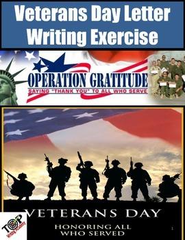 "Veterans Day Activities ""Operation Gratitude"" Letter Writi"