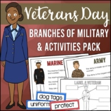 Veterans Day: Activities, Design a Thank You Medal Glyph, 5 Branches of Military
