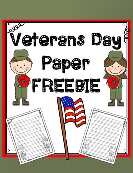 Veterans Day Paper FREEBIE