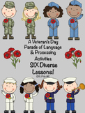 Veteran's Day Parade of Language & Processing Activities - 6 Diverse Lessons