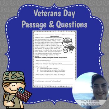 Veterans Day Passage & Questions