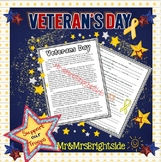 Veterans Day (Passage with short answer comprehension questions)