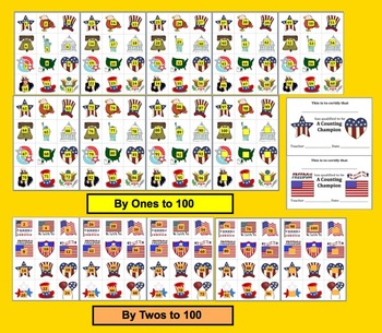 Veterans' Day Math Centers: Patriotic Counting & Skip Counting Activities