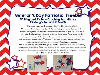 Veteran's Day Patriotic Writing Prompts and Picture Graphing Activity Freebie!