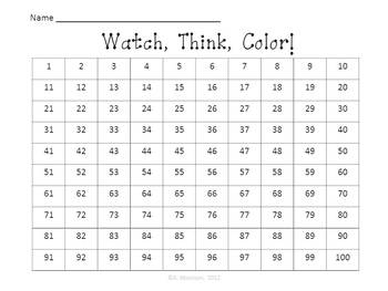 Veteran's Day Place Value (Watch, Think, Color!)