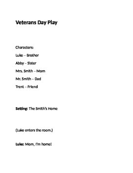 Veterans Day Play
