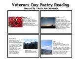 Veterans Day Poetry Reading