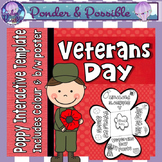 Veterans Day Poppy ~ Interactive Template