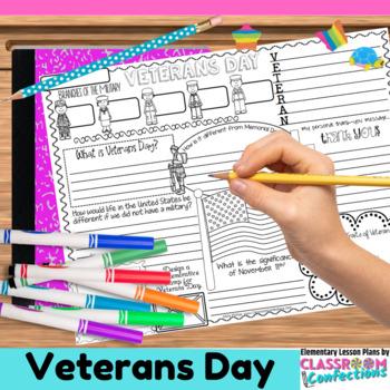 Veterans Day Writing Activity: Fun Veterans Day Activity Poster