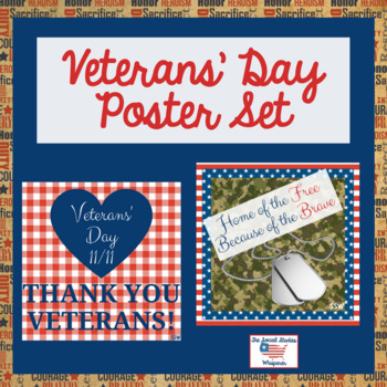 Veterans' Day Poster Set