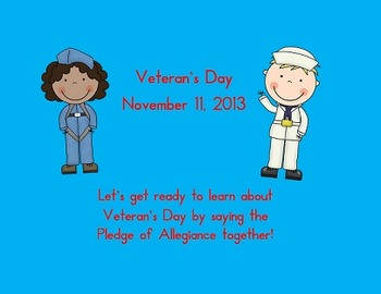 Veteran's Day Powerpoint Kindergarten, first, second grade
