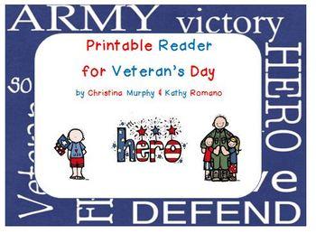 Veteran's Day Printable Reader