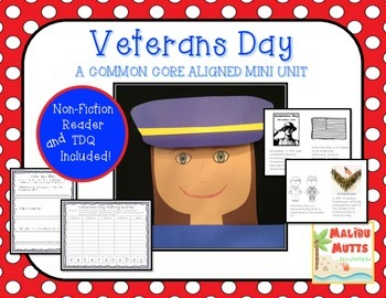 Veterans Day Unit with Nonfiction Book and Craftivites-Com