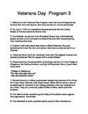 Veterans' Day Program 3