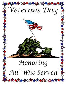 Veterans Day Program Cover