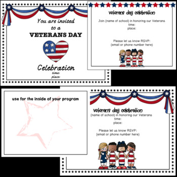 Veterans Day Programs and Newsletters- Editable