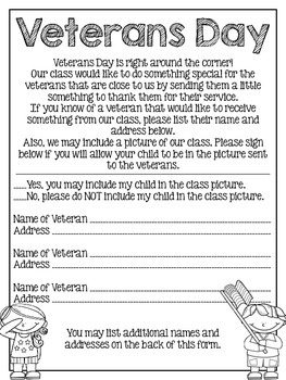 Veterans Day Project Note