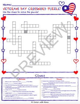 Veterans Day Puzzles (BUNDLE!)