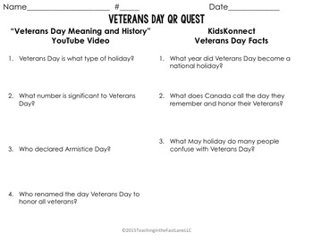 Veterans Day QR Quest