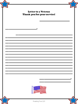 Veterans Day Reading Passage and Activities