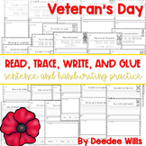 Veterans Day: Read, Trace, Glue, and Draw