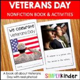 Veterans Day Kindergarten - Nonfiction Book with Activities