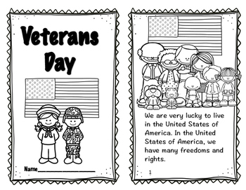 Veterans Day Reader, Comprehension and Pop-up Card; Honor our Veterans Reader