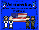 Veterans Day Reader, Comprehension and Pop-up Card; Honor