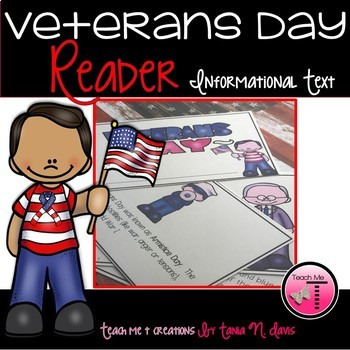 Veterans Day Reader| First Grade Reader with Posters