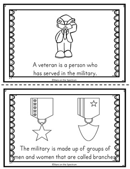 Veterans Day Reader (Vererans Day Cut and Paste Booklet)