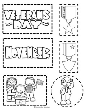 Veterans Day Reader (Veterans Day Cut and Paste Booklet)