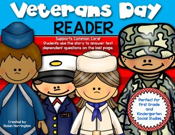 {Veterans Day Reader} for First Grade and Kindergarten Soc