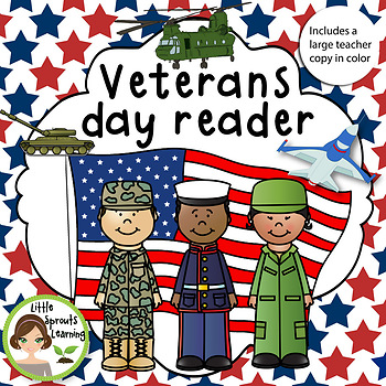 Veterans Day Reader (includes large Teacher Copy)