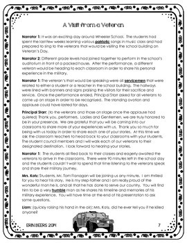 Veteran's Day Reader's Theater CCSS Toolkit for Grades 4-8
