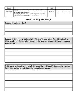 Veterans Day Reading