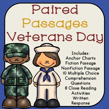 Veterans Day Reading Comprehension Paired Passages
