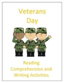 Veterans Day: Reading Comprehension and Writing Activities