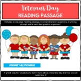 Veterans Day Reading Passage and Writing Prompt