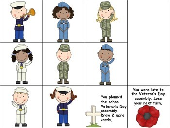 Veterans Day Reinforcing Games for Speech and Language!