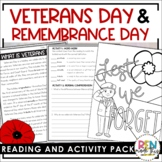 Veterans Day & Remembrance Day Reading Comprehension