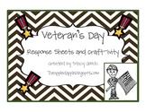 Veteran's Day Response Sheets and Craft