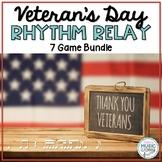 Veteran's Day Rhythm Relay BUNDLE - 7 GAMES!