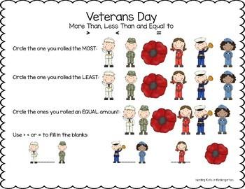 Veterans Day Math Activity