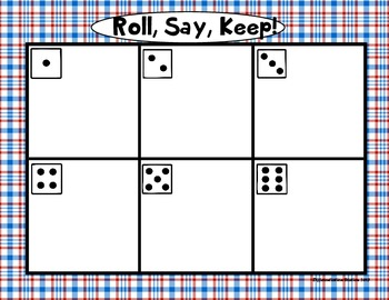 "Veteran's Day ""Roll, Say, Keep!"" Pre-Primer Dolch Sight Word Center + Extra"
