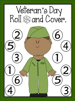 Veteran's Day Roll and Cover Games