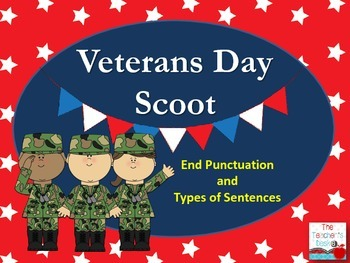 Veterans Day SCOOT Declarative, Interrogative, Exclamatory
