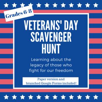 Veterans' Day Scavenger Hunt