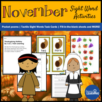 Thanksgiving Activities- Sight Words and Poetry