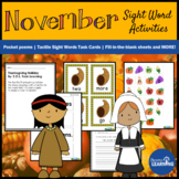 Thanksgiving and Fall Activities for First Grade